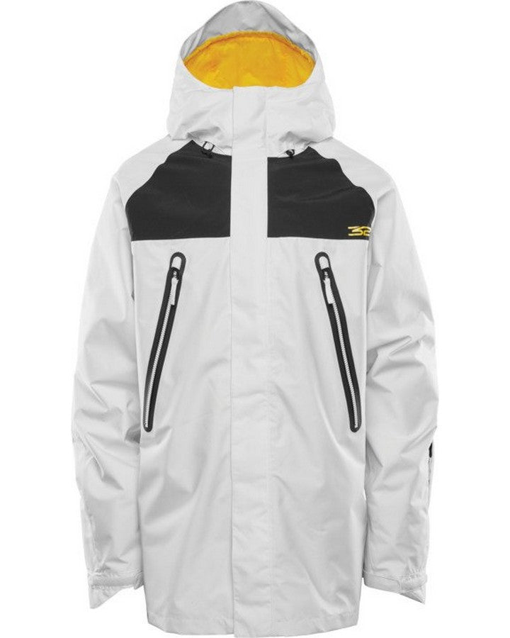 ThirtyTwo Spring Break Parka - White - 2021 Snow Jackets - Mens - Trojan Wake Ski Snow