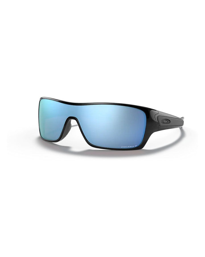 Oakley Turbine Rotor - Polished Black w Prizm Deep Water Polarized SUNGLASSES - Trojan Wake Ski Snow