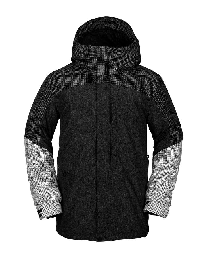 Volcom Mens TDS 2L Gore-Tex Jacket - Black Static - 2021 Snow Jackets - Mens - Trojan Wake Ski Snow