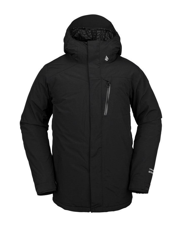 Volcom Mens L Gore-Tex Jacket - Black - 2021 Snow Jackets - Mens - Trojan Wake Ski Snow
