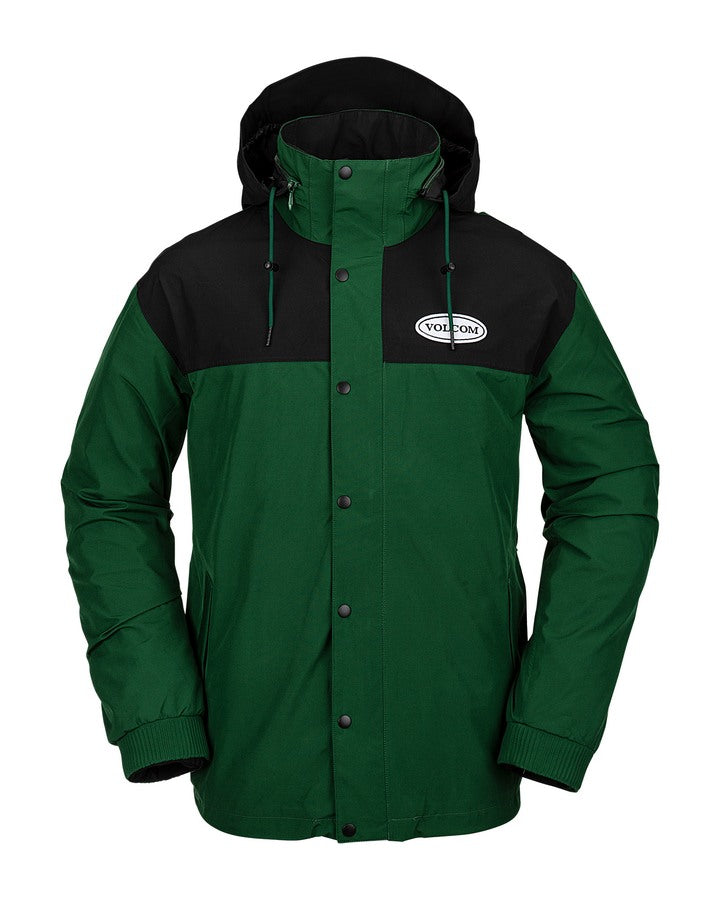 Volcom Mens Longo Gore-Tex Jacket - Forest - 2021 Snow Jackets - Mens - Trojan Wake Ski Snow