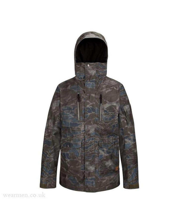 Quiksilver Mens Dark and Stormy Jacket Snow Jackets - Mens - Trojan Wake Ski Snow