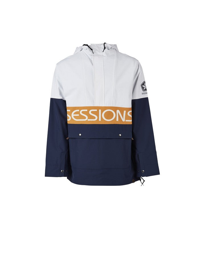 Sessions Mens Chaos Pullover Jacket - White - 2020 Snow Jackets - Mens - Trojan Wake Ski Snow