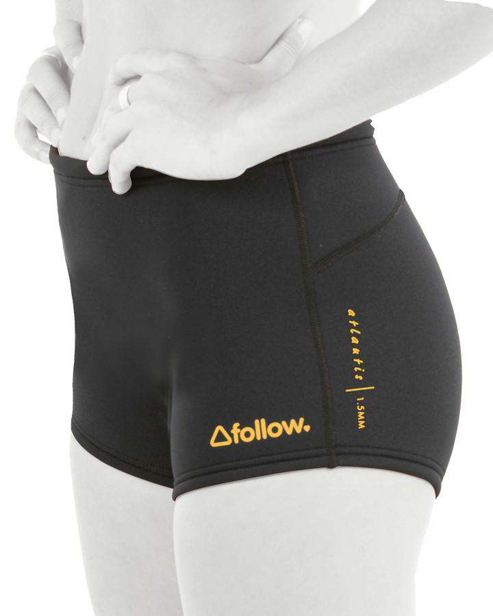 Follow Ladies Atlantis Neo Shorts - Black - 2021 Wetsuit Shorts - Ladies - Trojan Wake Ski Snow