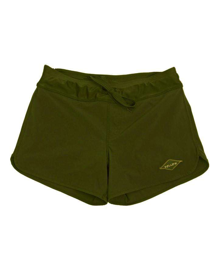 FOLLOW LADIES PHARAOH RIDE SHORTS - OLIVE - 2020 Rideshorts - Womens - Trojan Wake Ski Snow