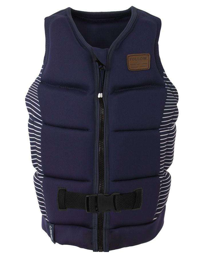 FOLLOW ATLANTIS LADIES JACKET - NAVY - 2020 Life Jacket - Womens - Trojan Wake Ski Snow