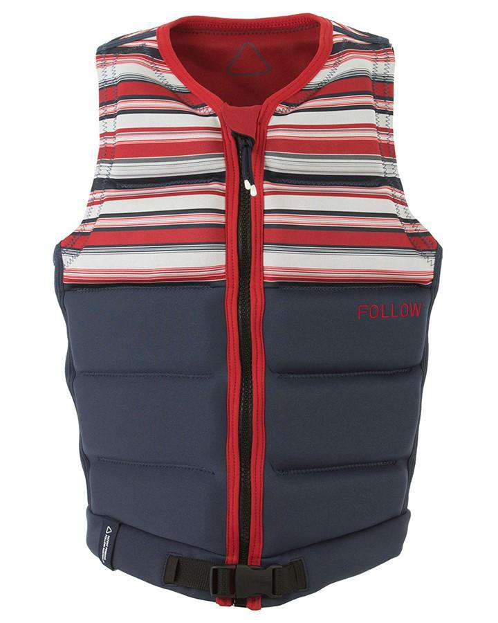 FOLLOW SAM B LTD MENS JACKET - NAVY - 2020 Life Jacket - Mens - Trojan Wake Ski Snow