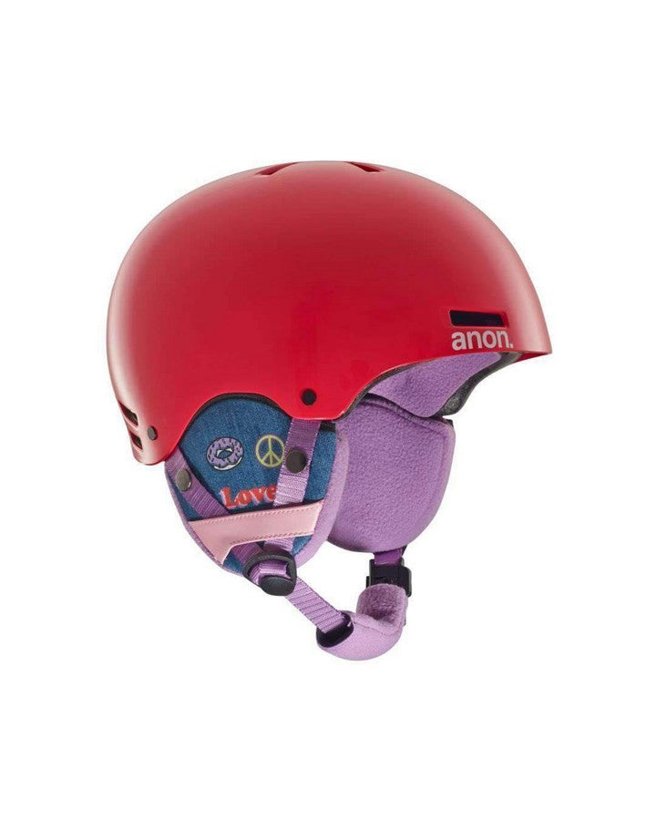 ANON RIME GIRL POWER RED - 2019 Snow Helmets - Youth - Trojan Wake Ski Snow