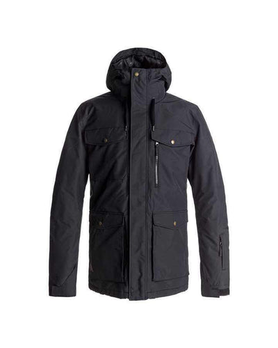 Quiksilver Mens Raft Snow Jacket - Black Snow Jackets - Mens - Trojan Wake Ski Snow