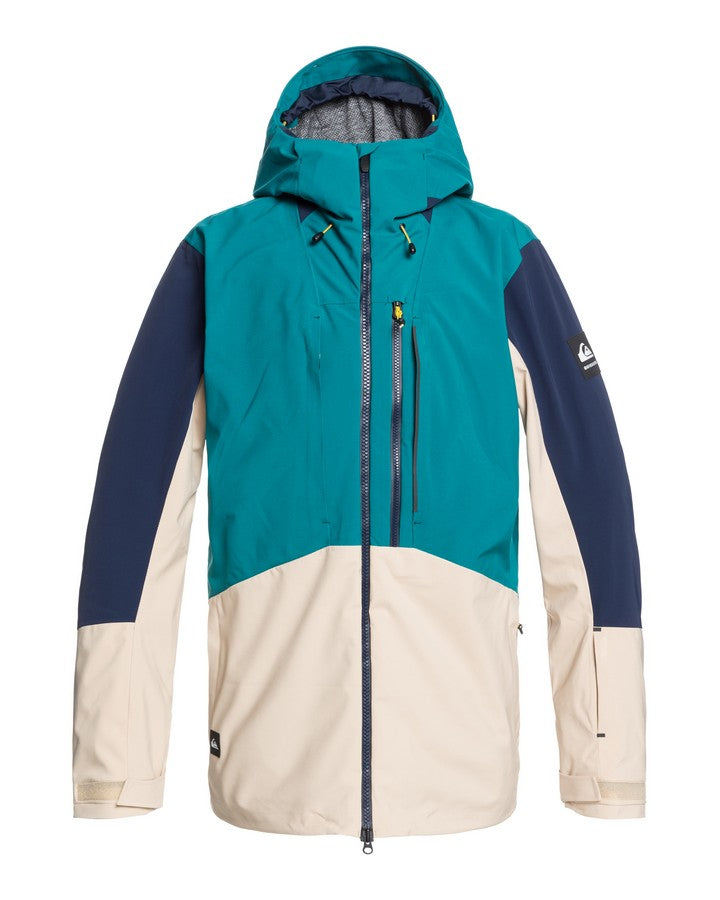 Quiksilver Travis Rice Stretch Shell Mens Snow Jacket - Everglade - 2021 Snow Jackets - Mens - Trojan Wake Ski Snow