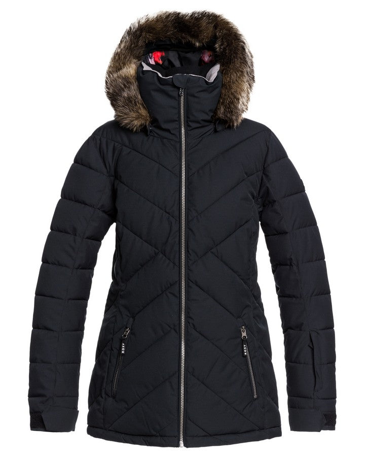 Roxy Quinn Womens Snow Jacket - True Black - 2021 Snow Jackets - Womens - Trojan Wake Ski Snow