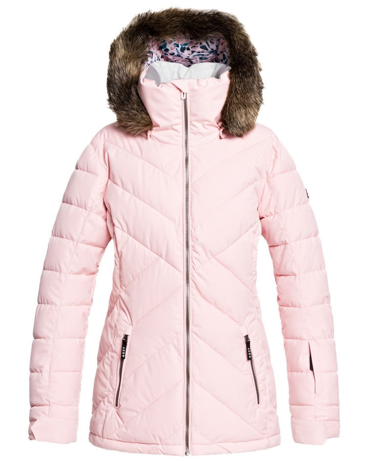 Roxy Quinn Womens Snow Jacket - Silver Pink - 2021 Snow Jackets - Womens - Trojan Wake Ski Snow