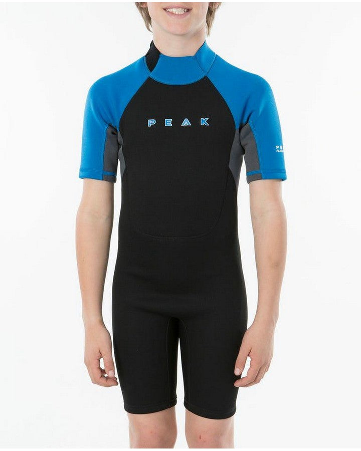 Peak Boys Energy Short Sleeve Spring Suit - Black/Blue SPRING SUITS - KIDS - Trojan Wake Ski Snow