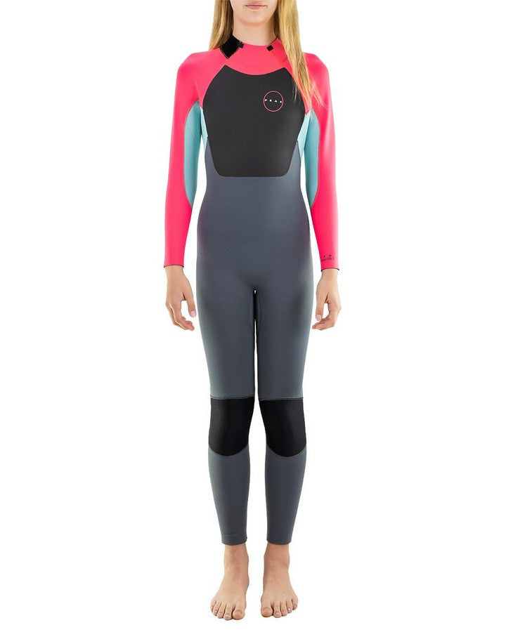 Peak Junior Girls Energy 3/2mm GB Wetsuit Steamer - Pink Steamers - Kids - Trojan Wake Ski Snow