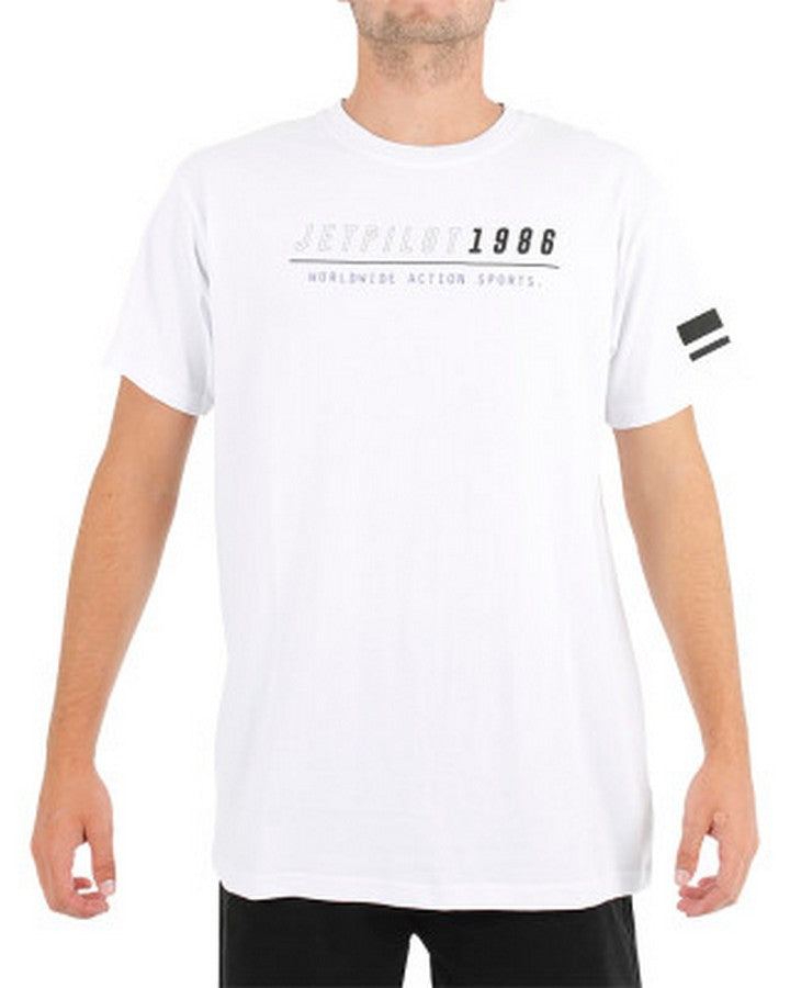JETPILOT STRATEGY TEE - WHITE Apparel - Trojan Wake Ski Snow