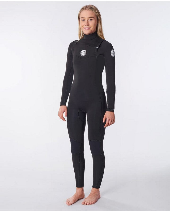 Rip Curl Womens Dawn Patrol 32GB Chest Zip - Black Steamers - Ladies - Trojan Wake Ski Snow