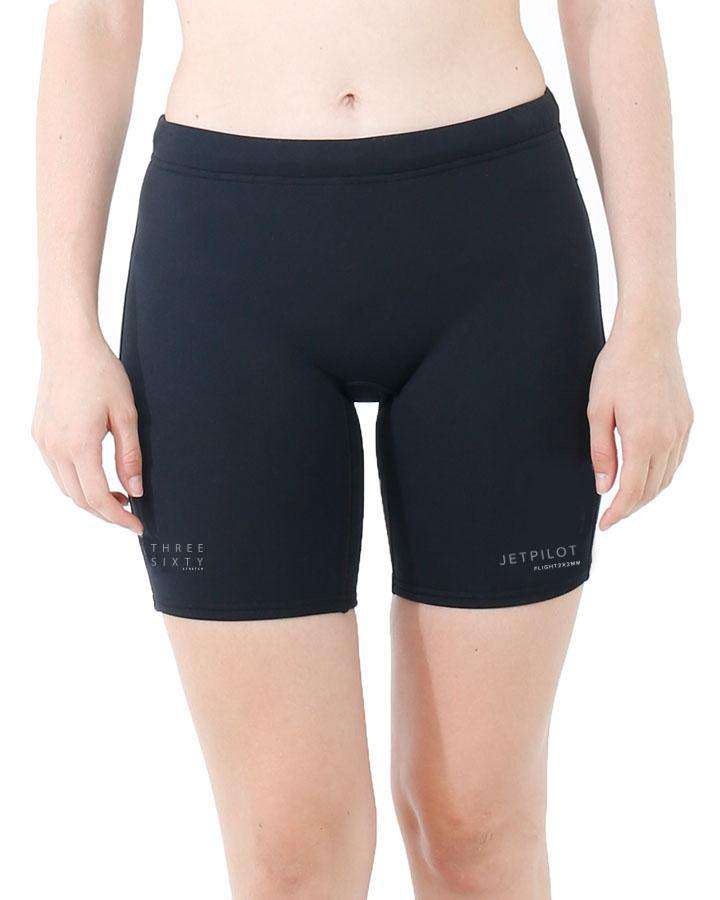 "Jetpilot Flight Ladies 7"" Neo Short - 2022 Wetsuit Shorts - Ladies - Trojan Wake Ski Snow"