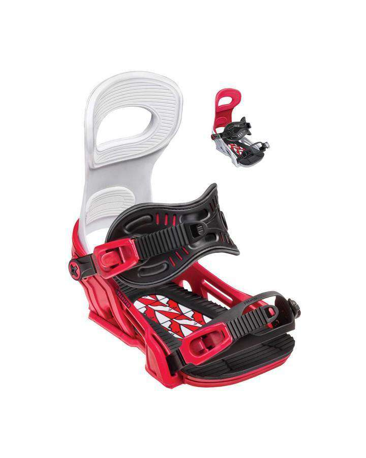 Bent Metal Transfer - Red - 2019 Snowboard Bindings - Men - Trojan Wake Ski Snow
