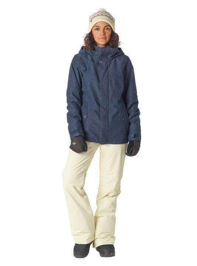 2018 Womens Burton Jet Set Jk Mood Indigo Fleck Snow Jackets - Womens - Trojan Wake Ski Snow