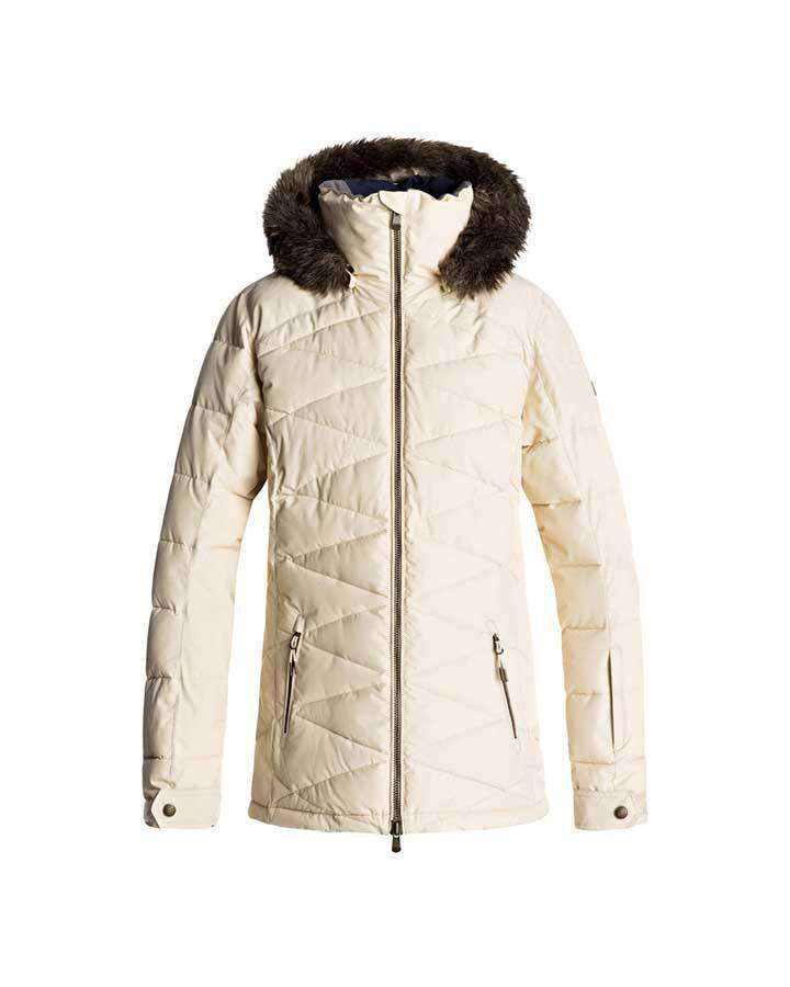 Roxy Quinn Quilted Womens Snow Jacket-Snow Jacket - Womens-ROXY-M-Trojan Wake Ski Snow