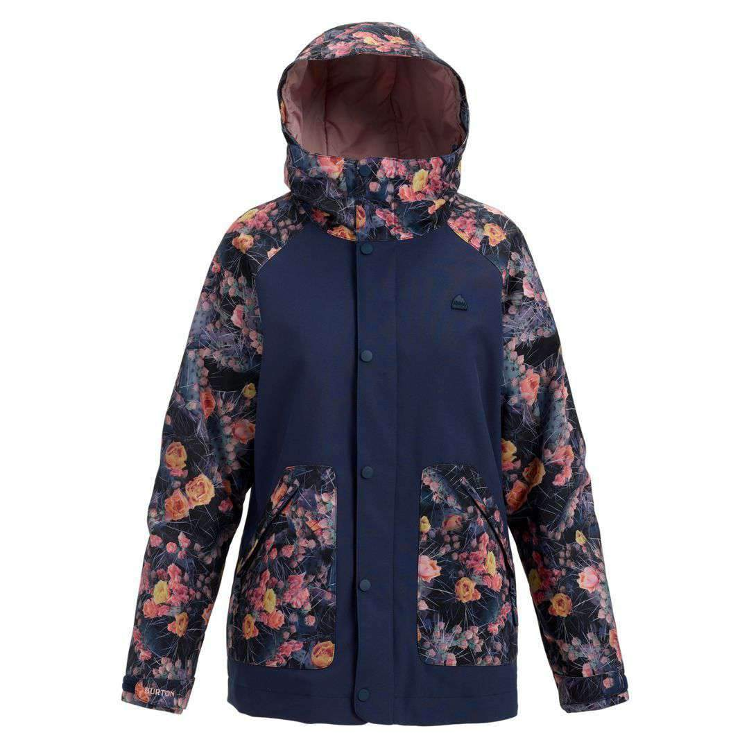 2019 BURTON WOMENS EASTFALL JACKET MOOD INDIGO / PRICKLY PEAR