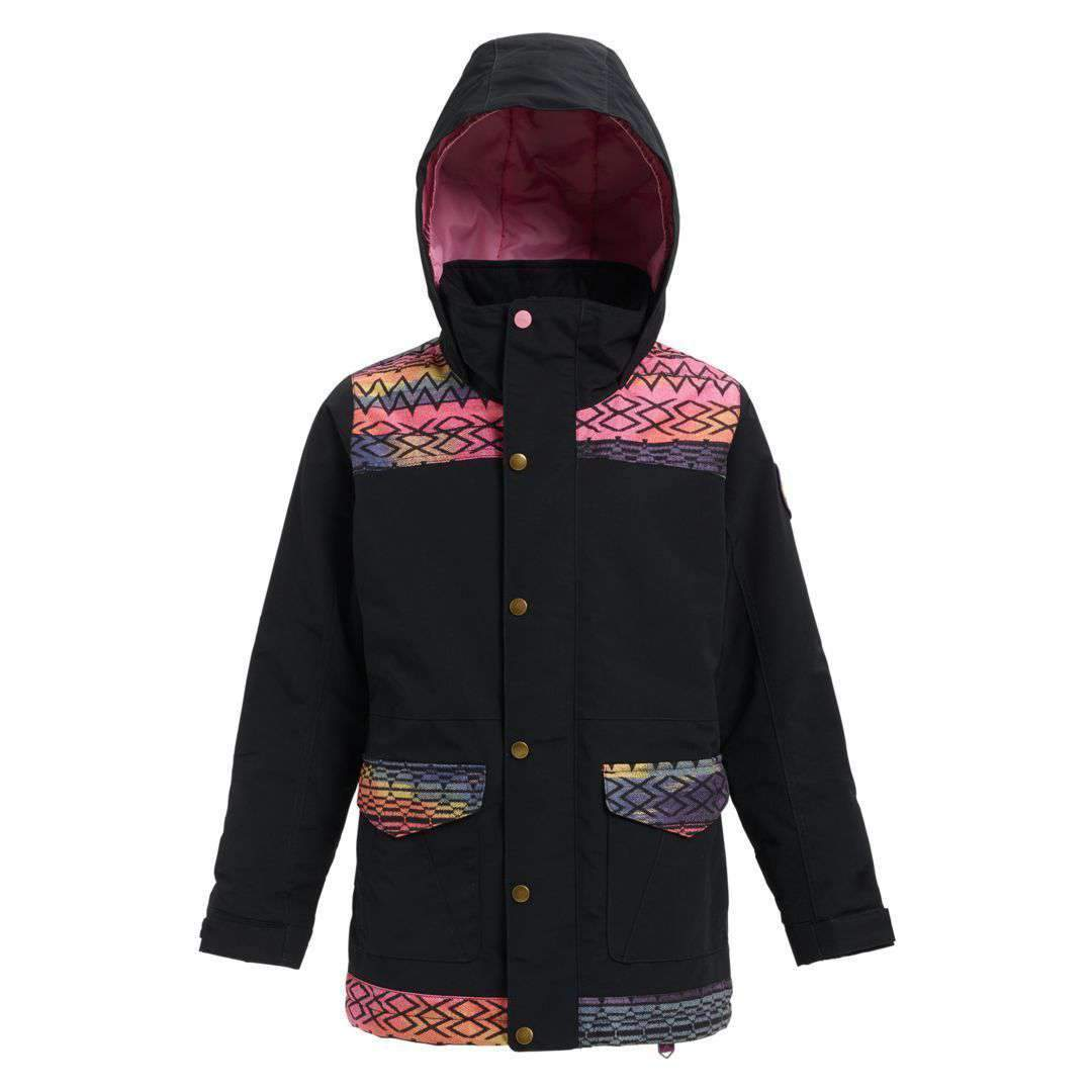 BURTON Snow Jackets - Youth TRUE BLACK / TECHNICAT DREAM / XS 2019 BURTON GIRLS ELSTAR PRK JACKET
