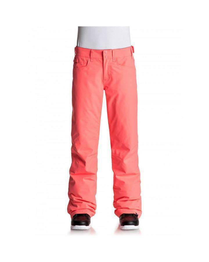 Roxy Womens Backyard Snow Pant - Neon Grapefruit Snow Pants - Womens - Trojan Wake Ski Snow