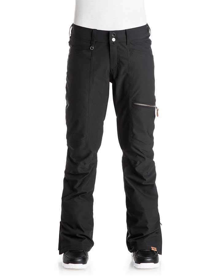 Roxy Womens Cabin Snow Pant - True Black Snow Pants - Womens - Trojan Wake Ski Snow