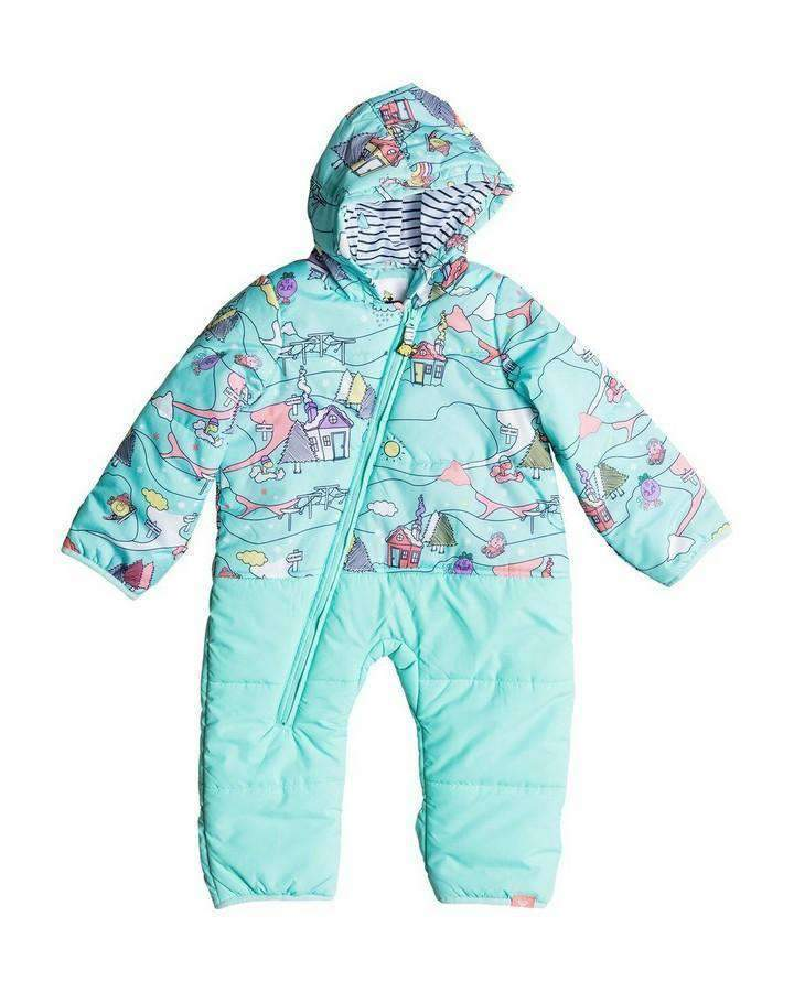 Roxy Rose Little Miss Jumpsuit - Aruba Blue-Snow Jackets - Youth-DC-6-12M-Trojan Wake Ski Snow
