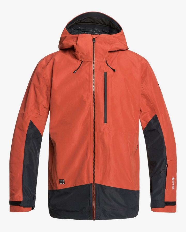 Quiksilver Mens Forever 2L GORE-TEX® - Snow Jacket - Barn Red - 2020 Snow Jackets - Mens - Trojan Wake Ski Snow
