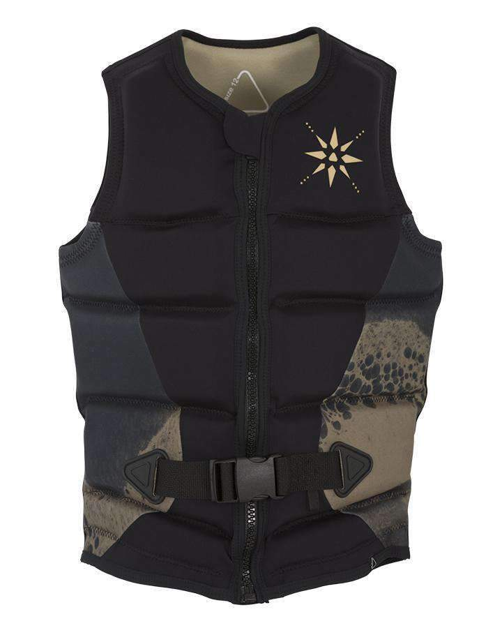 FOLLOW STOW LADIES VEST - Black - 2019 Life Jacket - Womens - Trojan Wake Ski Snow