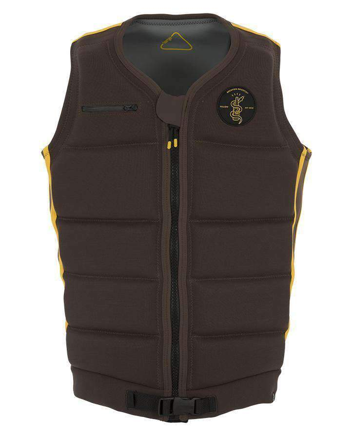 FOLLOW BP MENS VEST - Brown - 2019 Life Jacket - Mens - Trojan Wake Ski Snow