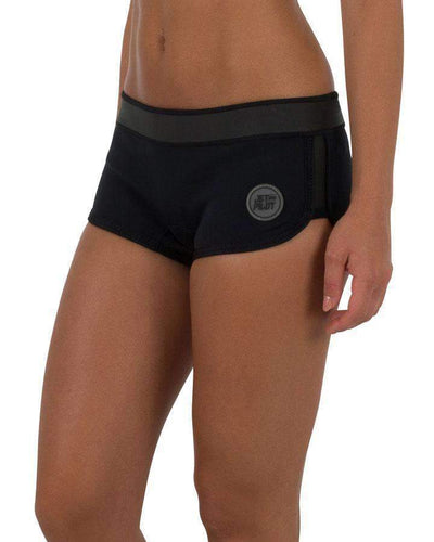 "JETPILOT 6 / Black/Black JPCO 2.5"" LADIES NEO SHORT BLACK"