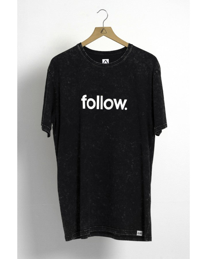 Follow Stone Corp Mens Tee - Black - 2021 APPAREL - Trojan Wake Ski Snow