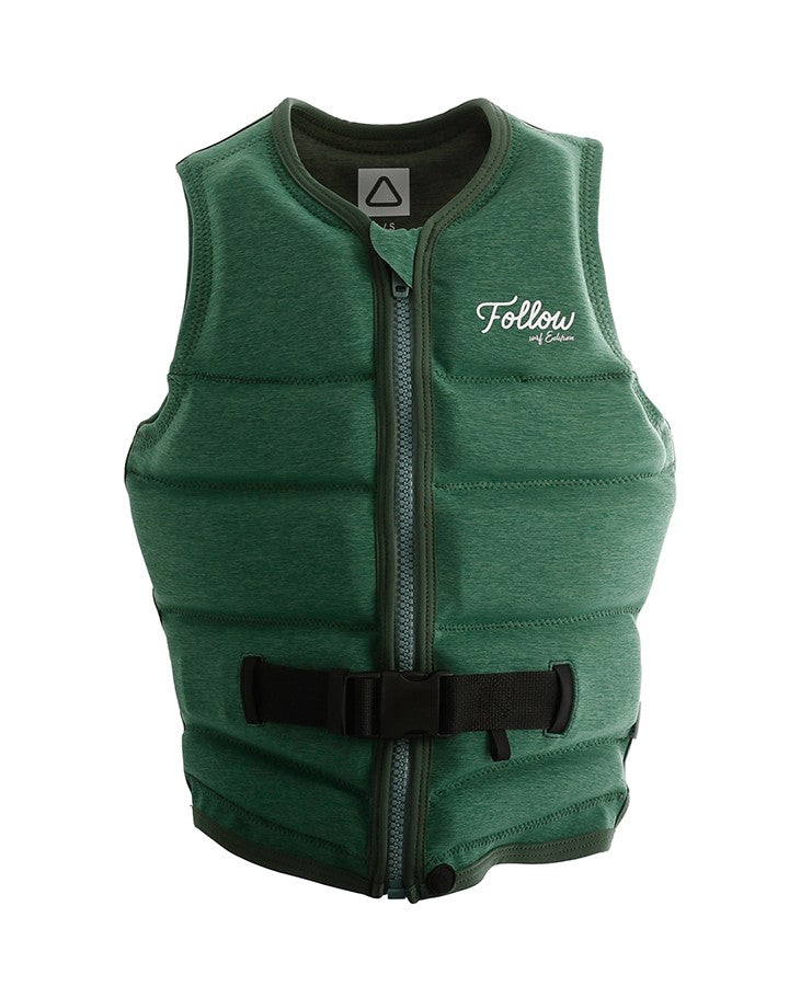 Follow Surf Edition Ladies Jacket - Green - 2022 Life Jacket - Womens - Trojan Wake Ski Snow