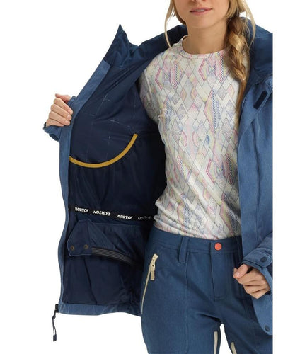 Burton Women's Jet Set Jacket - Light Denim - 2020 Snow Jackets - Womens - Trojan Wake Ski Snow