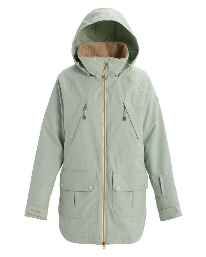 Burton Women's Prowess Jacket - Aqua Gray / Aqua Gray Revel Stripe - 2020 Snow Jackets - Womens - Trojan Wake Ski Snow