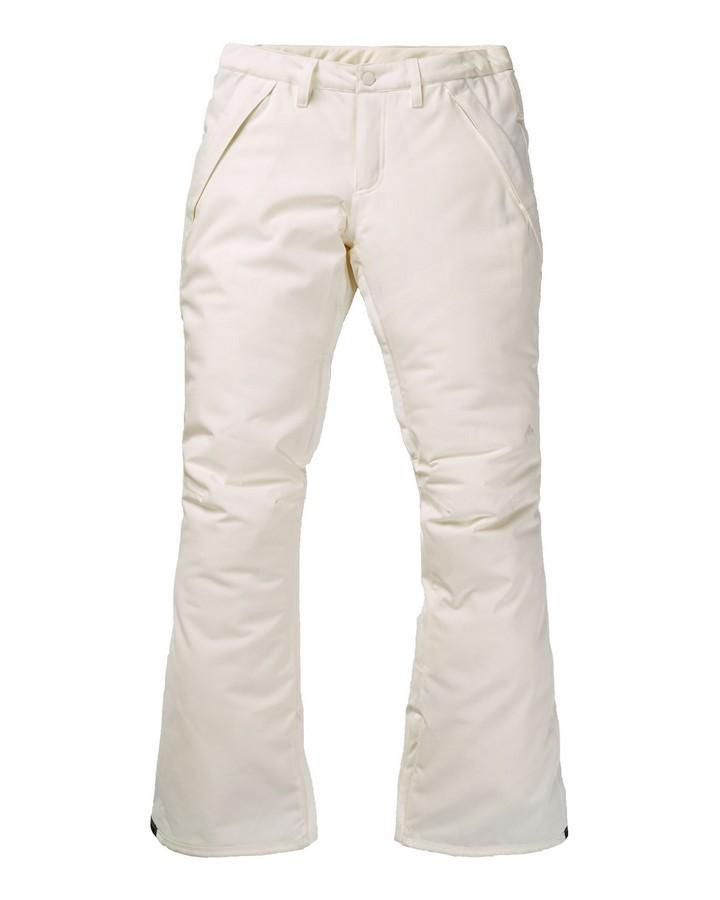 Burton Women's Society Pants - Stout White - 2020 Snow Pants - Womens - Trojan Wake Ski Snow