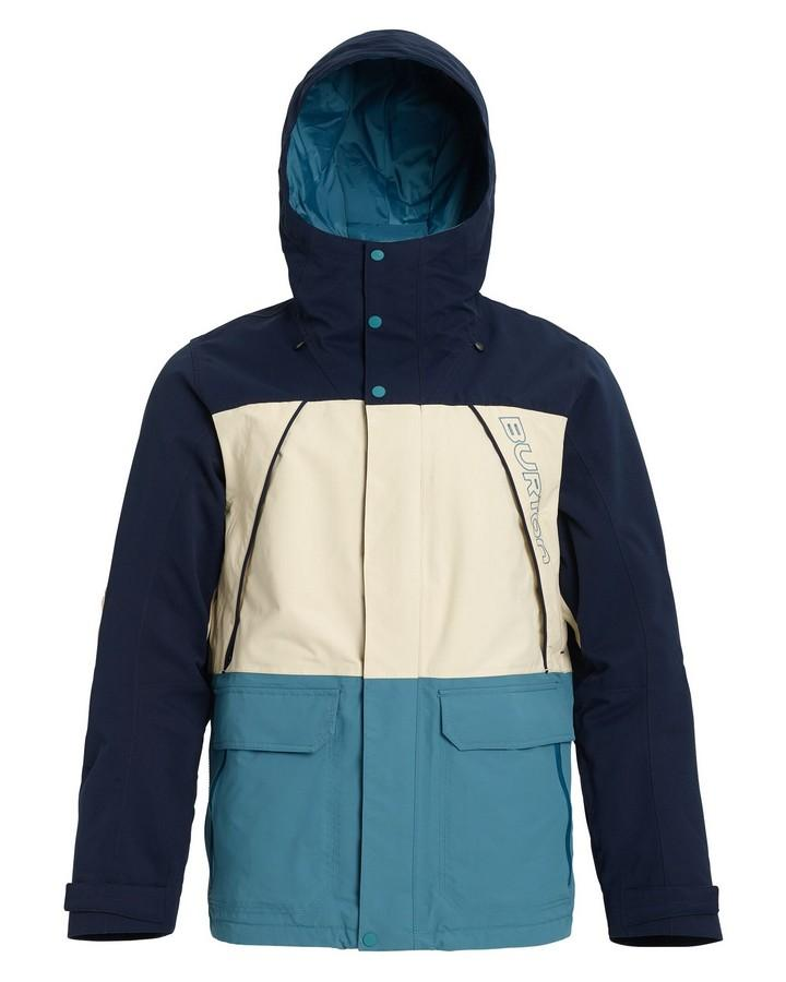 Burton Men's Breach Insulated Jacket - Dress Blue/Almond Milk/Storm Blue - 2020 Snow Jackets - Mens - Trojan Wake Ski Snow
