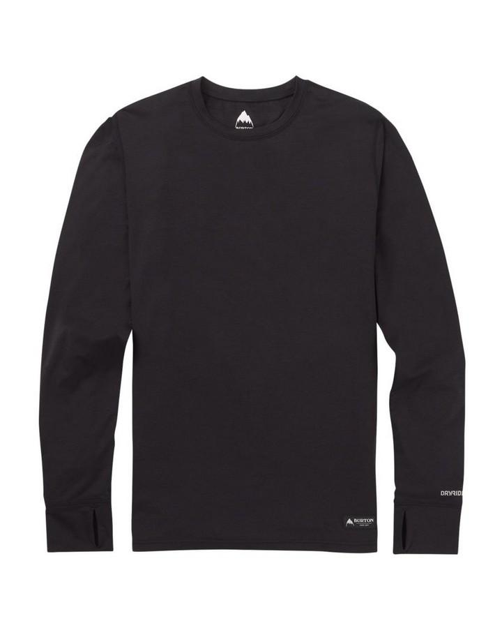Burton Men's Lightweight Base Layer Crew - True Black - 2020 Thermals - Mens - Trojan Wake Ski Snow
