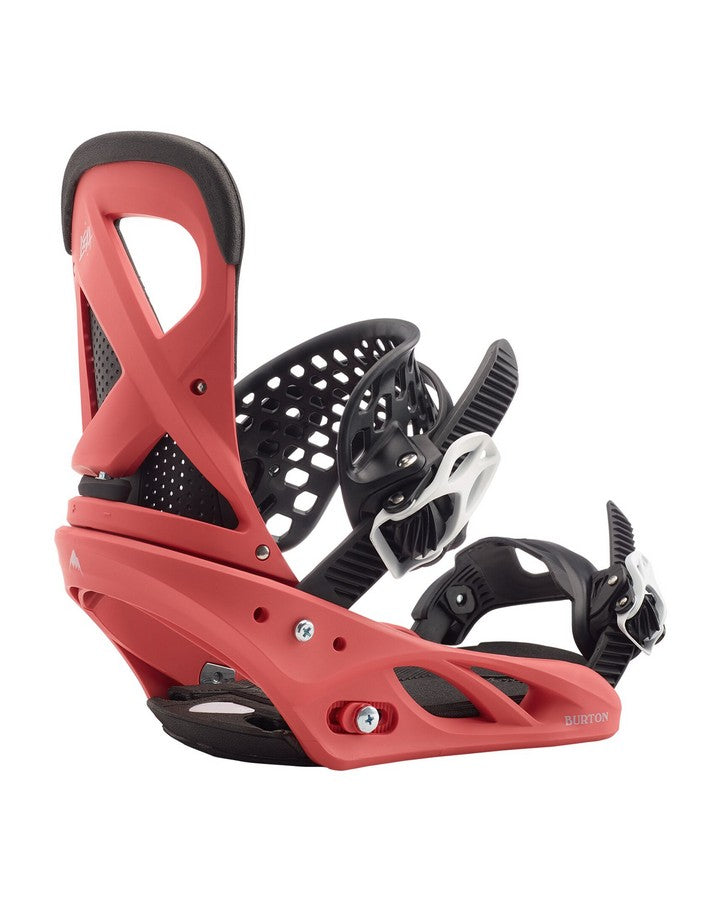 Burton Lexa Re:Flex Snowboard Binding - Electric Coral - 2020 Snowboard Bindings - Women - Trojan Wake Ski Snow