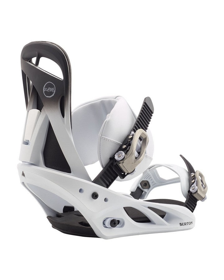 Burton Scribe Re:Flex Snowboard Binding - Fade To White - 2020 Snowboard Bindings - Women - Trojan Wake Ski Snow