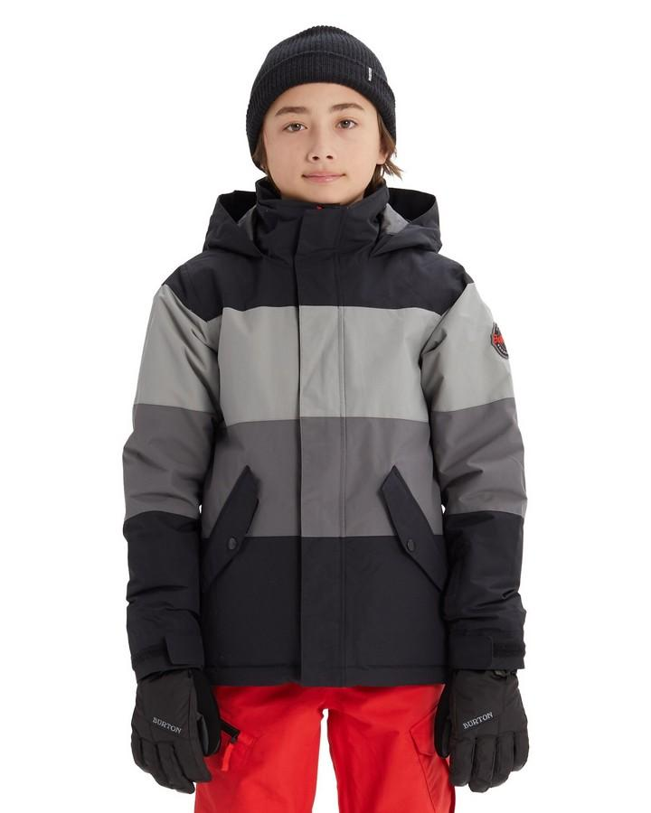 Burton Boys' Symbol Jacket -  True Black Multi - 2020 Snow Pants - Youth - Trojan Wake Ski Snow