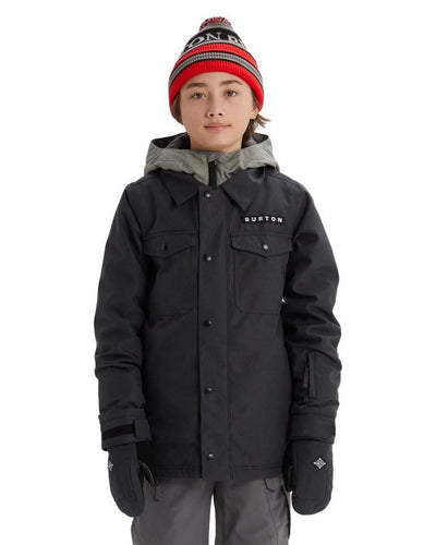 Burton Boys' Uproar Jacket - Black Denim - 2020 Snow Pants - Youth - Trojan Wake Ski Snow