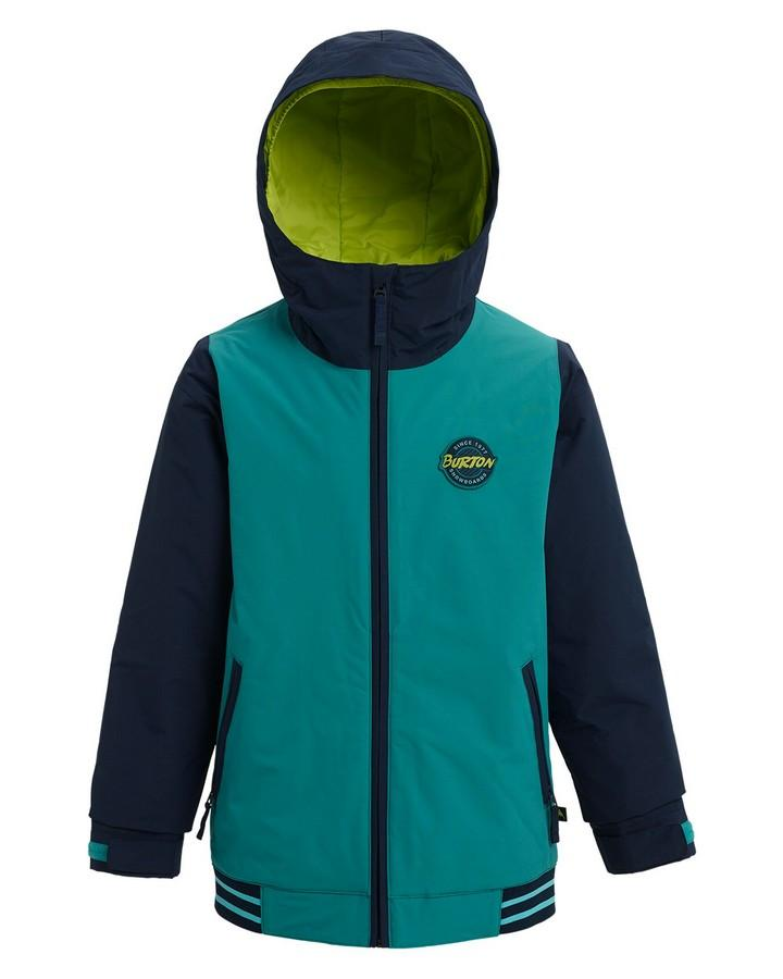 Burton Boys' Game Day Jacket - Green-Blue Slate/Dress Blue - 2020 Snow Pants - Youth - Trojan Wake Ski Snow
