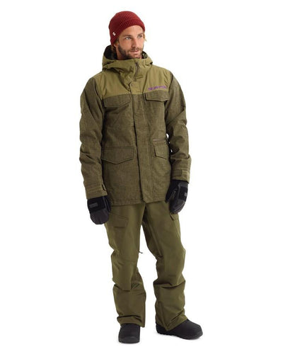 Burton Men's Covert Jacket - Keef Heather/Martini Olive - 2020 Snow Jackets - Mens - Trojan Wake Ski Snow