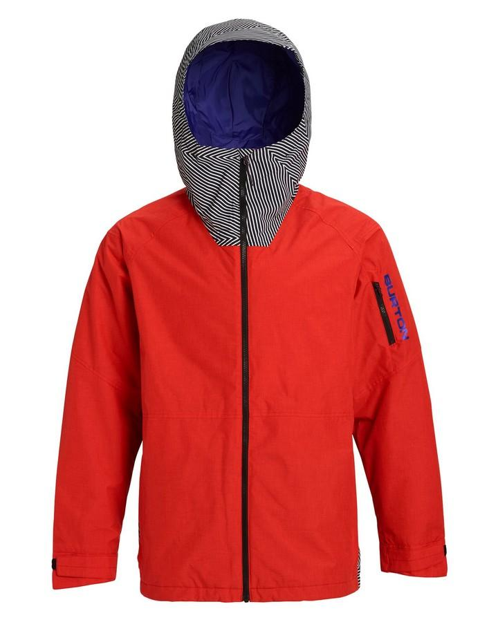 Burton Men's Hilltop Jacket - Flame Scarlet/Spun Out - 2020 Snow Jackets - Mens - Trojan Wake Ski Snow