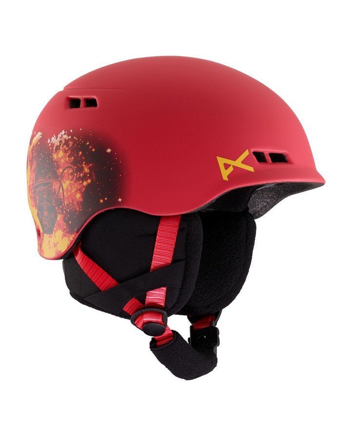 2020 Anon Burner Helmet - Tinfoilhat Red-Snow Helmets - Youth-Anon-Tinfoilhat Red-S\M-Trojan Wake Ski Snow