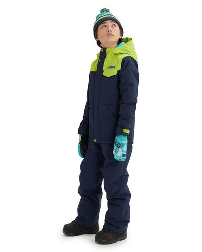 Burton Boys' Dugout Jacket - Dress Blue/Tender Shoots - 2020 Snow Jackets - Youth - Trojan Wake Ski Snow