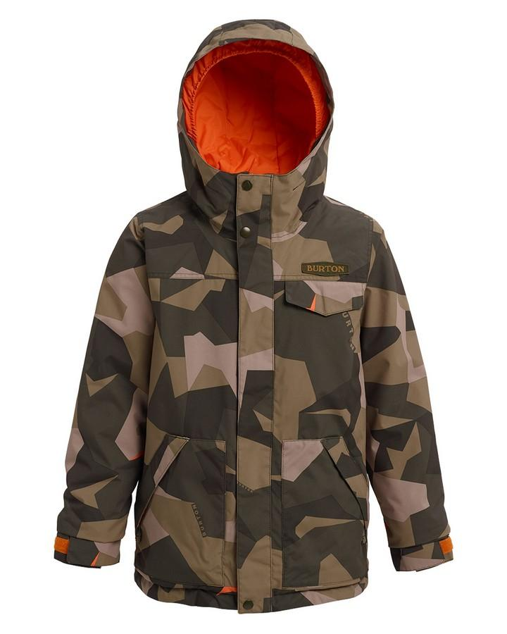 Burton Boys' Dugout Jacket - Three Crowns Camo - 2020 Snow Jackets - Youth - Trojan Wake Ski Snow